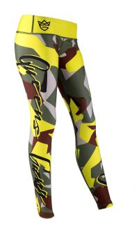WOMENS LEGGINGS - CAMO LADY green