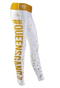 WOMENS LEGGINGS - FANCY white-gold