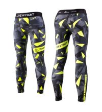 MENS LEGGINGS - ATHLETIC CAMO lime