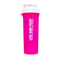 LADY\'S SHAKER BORN IN THE GYM 400ml pink&white